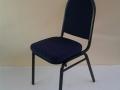 židle banketová, modré polstrování, pronájem Štefek