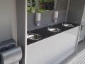 luxusní mobilní wc, umyvadla, osoušeč detail, pronájem Štefek